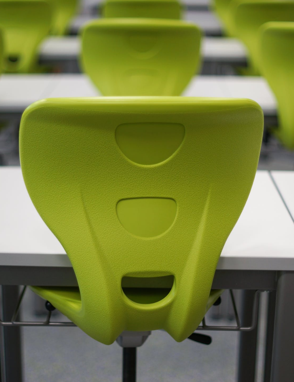 Chairs in a lecture hall